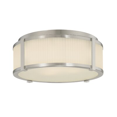 Roxy Flush Mount Finish / Size: Satin Nickel / 6.5 H x 16.5 Dia