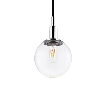 Orb 1-Light Pendant Shade Color: Clear