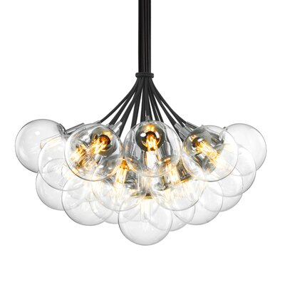 Orb 19-Light Cluster Pendant Shade Color: Clear