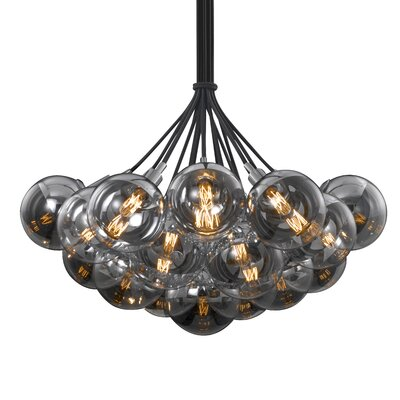 Orb 19-Light Cluster Pendant Shade Color: Half-Mercury