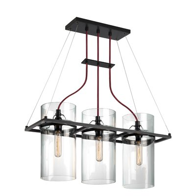 Square Ring 3-Light Kitchen Island Pendant