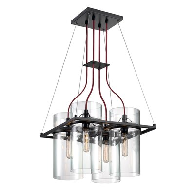Square Ring 4-Light Kitchen Island Pendant