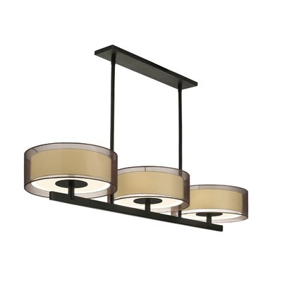 Puri 6-Light Bar Drum Pendant Finish: Black Brass