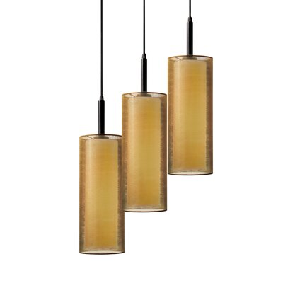 Puri 3-Light Pendant Finish: Black Brass