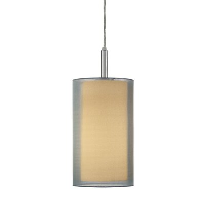 Puri 1-Light Pendant Finish: Satin Nickel, Size: 18 H