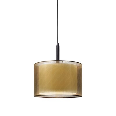 Puri 1-Light Pendant Finish: Black Brass, Size: 12 H