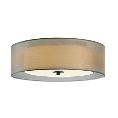 Puri 3-Light Flush Mount Finish: Satin Nickel, Size: 6 H x 16 Diameter