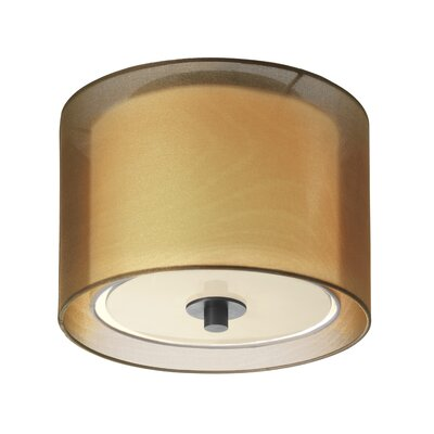 Puri 1-Light Flush Mount Finish: Black Brass