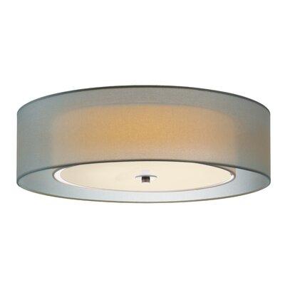 Puri 3-Light Flash Mount Shade Color: Satin Nickel