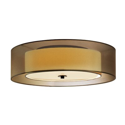 Puri 2-Light Flush Mount Shade Color: Black Brass