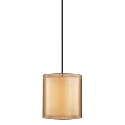 Puri 3-Light Drum Pendant Finish: Black Brass