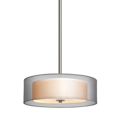 Puri Drum Pendant Size: Small, Finish: Satin Nickel