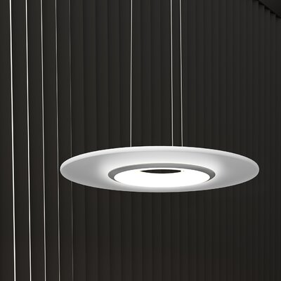 Krause 1-Light LED Geometric Pendant Finish: Satin Nickel, Size: 1.25 H 18 W x 18 D