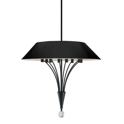 Fontana 8-Light Inverted Pendant Finish: Satin Black