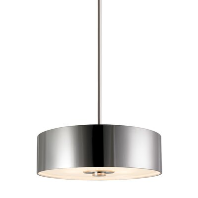 Rollo 6-Light Drum Pendant Finish: Polished Nickel, Shade Color: Polished Nickel Metal