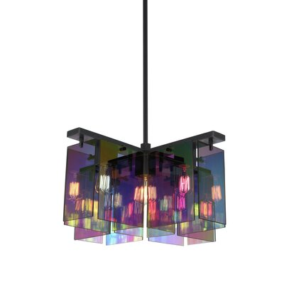 Dichroix 5-Light Foyer Pendant Finish: Black Brass