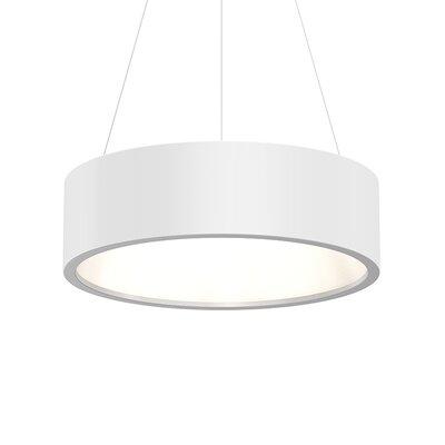 Tromme 1-Light LED Drum Pendant Shade Color: Satin White