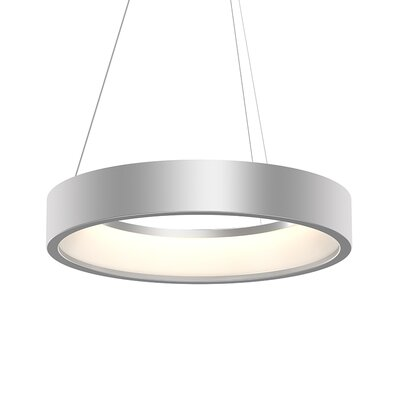 Tromme 1-Light LED Drum Pendant Finish: Bright Satin Aluminum