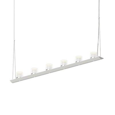 12-Light LED Kitchen Island Pendant Finish: Satin White