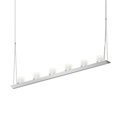 12-Light LED Kitchen Island Pendant Finish: Bright Satin Aluminum