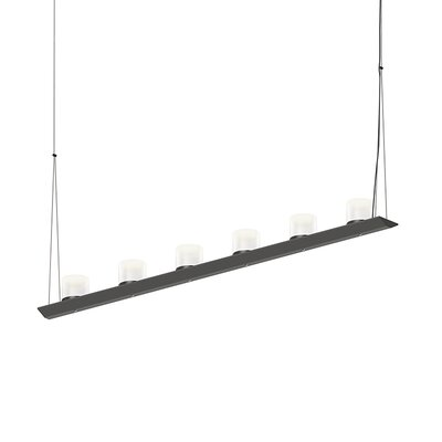12-Light LED Kitchen Island Pendant Finish: Satin Black