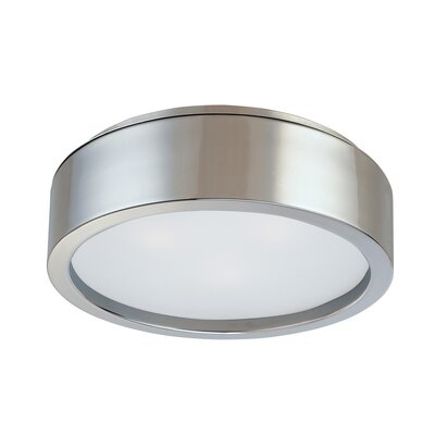 Puck Flush Mount Size: 4.5 H X 15 Dia, Finish: Satin Nickel
