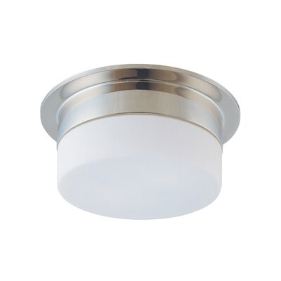 Flange Flush Mount Finish: Satin Nickel, Size: 5 H X 9 Dia