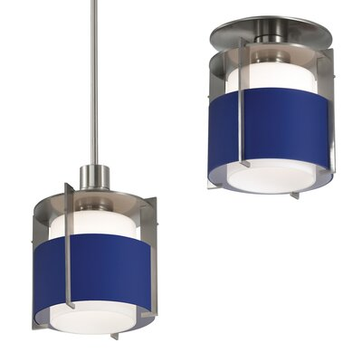 Pool Small Semi Flush Mount Shade Color: Blue