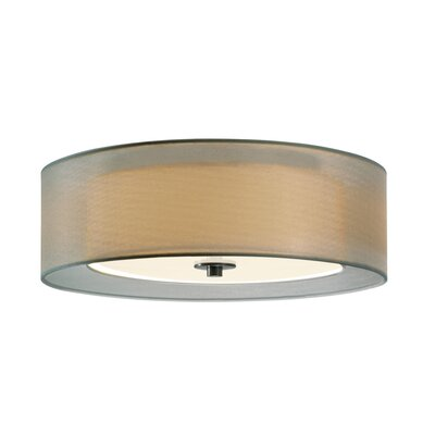 Puri 2-Light Flush Mount Shade Color: Satin Nickel