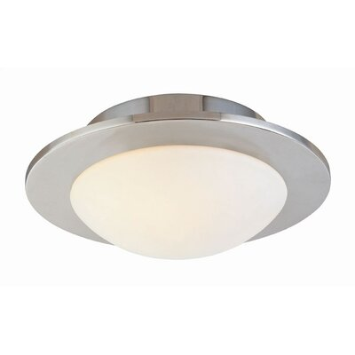 Discus Flush Mount Fixture Finish: Polished Nickel, Size: 7 H x 21 W x 21 D