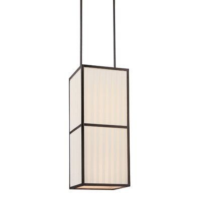 Piega Square Pendant in Satin Black