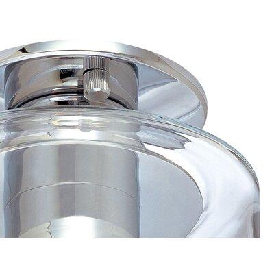 Transparence 1-Light Semi-Flush Mount