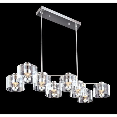 Transparence 8-Light Kitchen Island Pendant