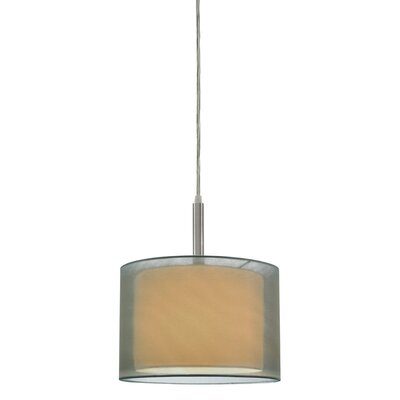 Puri 1-Light Pendant Size: 12 H, Finish: Satin Nickel