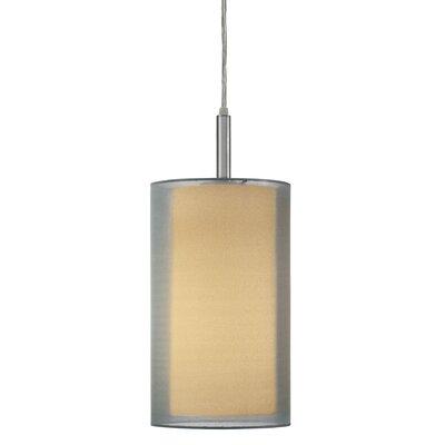 Puri 1-Light Pendant Size: 17 H, Finish: Satin Nickel