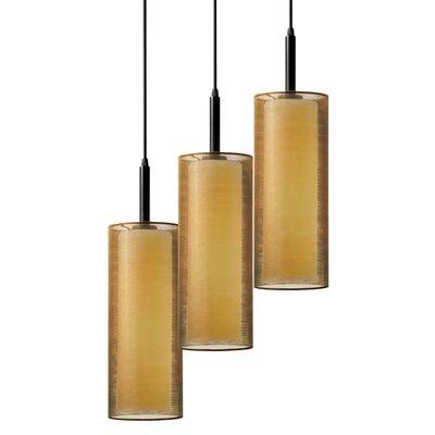 Puri 3-Light Pendant Finish: Black Brass