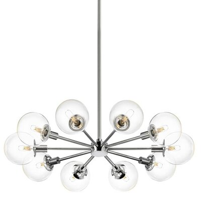 Orb 10-Light Radial Pendant Shade Color: Clear