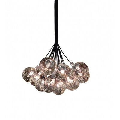 Orb 13-Light Cluster Pendant Shade Color: Clear