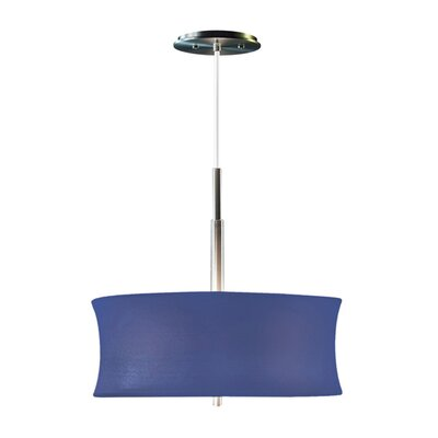 Lightweights Round 2-Light Drum Pendant Shade Color: Blue, Size: 14