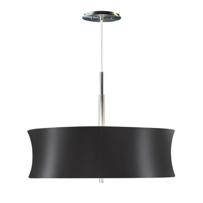 Lightweights Round 2-Light Drum Pendant Shade Color: Black, Size: 14 H x 22 W x 10 D