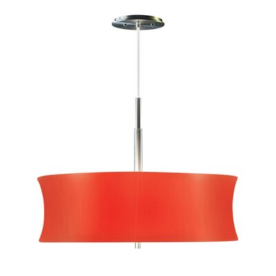 Lightweights 2-Light Drum Pendant Shade Color: Red, Size: 14 H x 22 W x 10 D