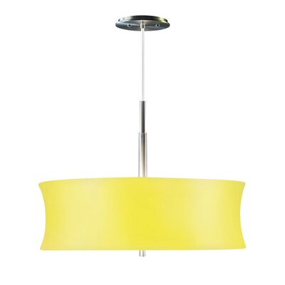 Lightweights Round 2-Light Drum Pendant Shade Color: Yellow, Size: 14 H x 22 W x 10 D