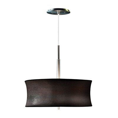 Lightweights 2-Light Drum Pendant Shade Color: Black, Size: 14 H x 16 W x 10 D