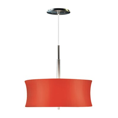 Lightweights 2-Light Drum Pendant Shade Color: Red, Size: 14 H x 16 W x 10 D