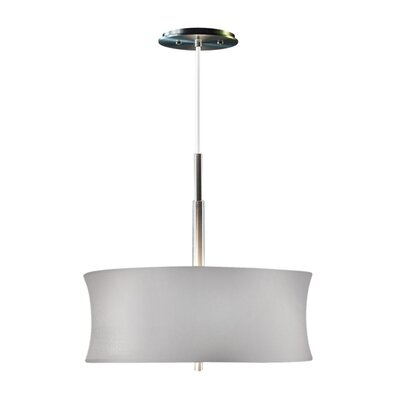 Lightweights Round 2-Light Drum Pendant Shade Color: Silver, Size: 14 H x 16 W x 10 D