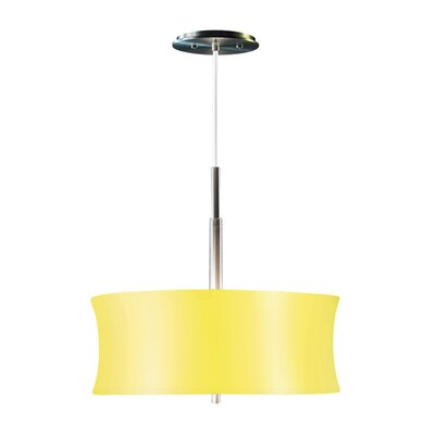 Lightweights Round 2-Light Drum Pendant Shade Color: Yellow, Size: 14 H x 16 W x 10 D