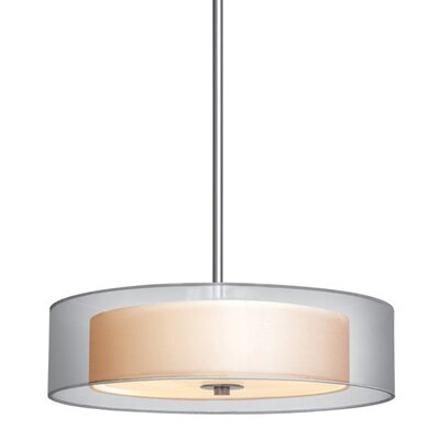 Puri Drum Pendant Size: Medium, Finish: Satin Nickel