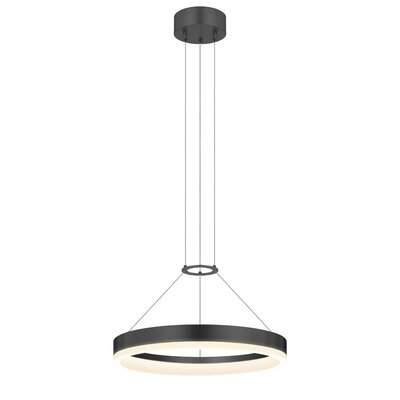 Corona 1-Light Pendant Size: 16 W, Finish: Satin Black