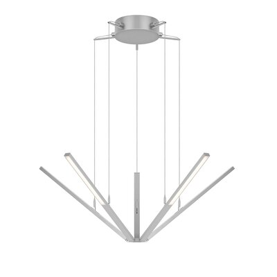 Wands 5-Light Pendant Finish: Bright Satin Aluminum