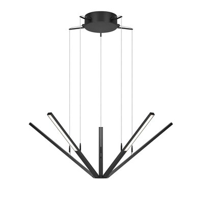 Wands 5-Light Pendant Finish: Satin Black